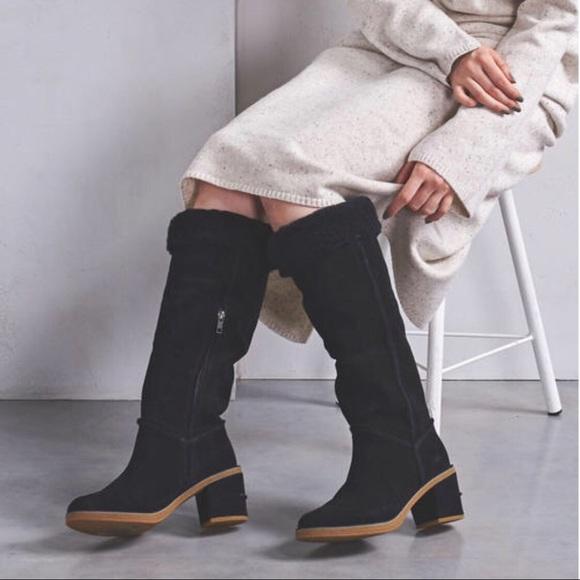 UGG a Kasen Tall II Boots Black NIB NWT